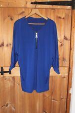 Ladies Royal Blue Zipper Detail size 12 Jumper Dress