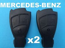 2 x  3 BUTTONS MERCEDES BENZ SMART REMOTE KEY CASE SHELL FOR BENZ S E C CLASS