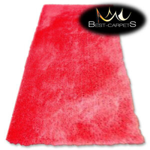 """MODERN SOFT & THICK RUG SHAGGY """"MACHO"""" red Polyester HIGH QUALITY carpets"""
