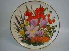 FRANKLIN PORCELAIN RHS FLOWERS OF THE YEAR LARGE PLATE FLOWERS OF NOVEMBER