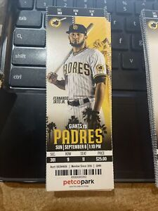 2020 Fernando Tatis Jr. Pictured San Diego Padres Ticket Stub. Version 1 Game