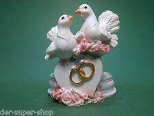 Teelichthalter Kerze Herz mit Ringe Tauben Hochzeit Kerzen Deko Hochzeitringe