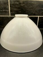 "Vtg Lamp Shade Light MCM White Milk Glass Diffuser Geometric Torchiere 10"" B"