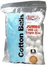 COTTON BALLS JUMBO, 200 Ct (3 PACK)