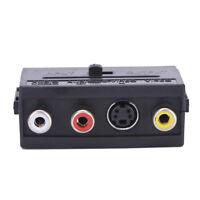 21 Pins SCART Stecker auf 3 Cinch Buchse AV TV Audio Video Adapter Konverter 4HK