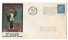 1932 US Summer Olympics Los Angeles First Day Cover 5c Sc 719 FDC Xth Olympiad