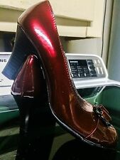 [[FREE LOTION]]: SALE!!  WOMEN'S HEELS SIZE 8 Color Maroon Wine New without tag