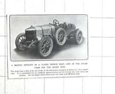 1912 Singer Grand Prix Racing Car Fitted With Michelin Tyres