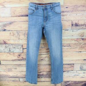 Wrangler Flex Jeans Boys Size 16 Regular Blue Cotton Blend Denim STRETCH WAIST