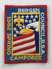 Boy Scouts BSA 1982 Bergen Council Spring Bald Eagle Embroidered Camporee Patch