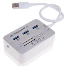 USB3.0 HUB Combo+SD TF MSDuo Card Reader Aluminium Alloy
