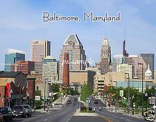 MD - BALTIMORE skyline - Travel Souvenir Fridge Magnet