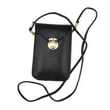 Black Cellphone Case Pouch shoulder bag for iPhone 7 Plus / 8 Plus / LG G6