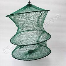 37cm 2 Layer Crab Fish Crawdad Shrimp Minnow Fishing Bait Trap Cast Dip Net x0US