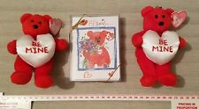 Ty Valentines Card And X2 Valentine Bear Keyrings