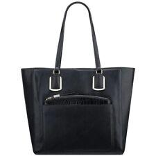 Nine West Addi Black Faux Leather Large Shoulder Tote Bag Handbag NWT