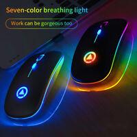 Souris optique sans fil LED souris sans fil pr ordinateur portable PC jeux 2, SH