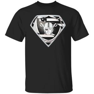Men's Oakland Raiders Supermen 2020 Anniversary Black T-shirt