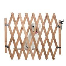 Wooden Pet Gate Dog Fence Retractable Barrier Sliding Door Security Protector