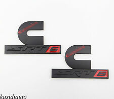 2x Black Red Dodge Ram Cummins SRT6 Turbo Diesel Alloy Emblem Badge Sticker SRT