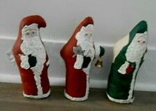 "Painted Santa Christmas decorations standing 9"" Flaw"