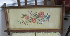 120 Year Old Antique Needlepoint In Antique Frame  (Needs To Be Restretched)
