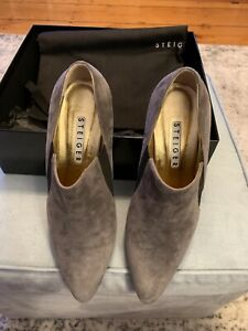 AUTHENTIC WALTER STEIGER Booties Grey  SUEDE Sz 39 (8.5 US) (with box and bag)