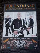 JOE SATRIANI - 2018 WHAT HAPPENS NEXT - LAMINATED AUSTRALIA PROMO TOUR POSTER