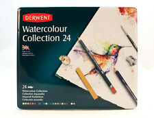 Derwent 24 Watercolour Collection Tin - Pencils Inktense and Inktense Blocks