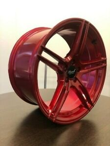 Monoblock Forged Alloy Wheels 18inch x 8.5 & 9.5 Candy Red MADE IN AUS