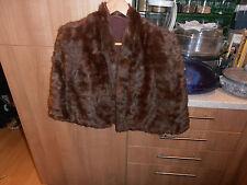Vintage 1930s  Ladies  Fine Quality Brown Fur Cape  or Stole