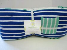 Pottery Barn Crib Bumper Striped Jersey Pocket Margherita Missoni Blue New a