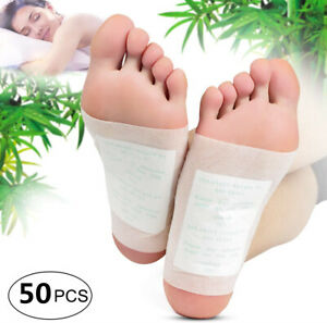 50 Pcs Foot Detox Pads Cleansing Patch Pain Relief Soothing Herbal Organic USA