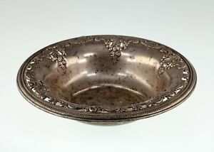 """Wallace Grand Baroque Sterling Silver Pierced Bowl 6.75"""" Nice Condition! 4850-9"""