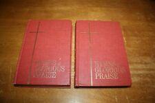 2 Vintage  Hymns of Glorious Praise 1969 Hardcover