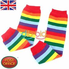 Pair Baby Child Toddler Leg Warmer Cover Rainbow Socks