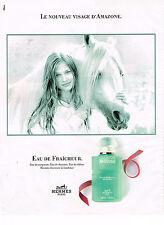 PUBLICITE ADVERTISING 035  1995  HERMES eau de fraicheur parfum AMAZONE