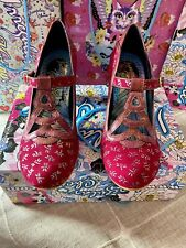 Irregular Choice Nicely Done Pink Iridescent Dragonfly Size 40 Brand New In Box