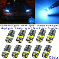 10x T10 194 168 LED Car Dome Trunk License Plate Light Sidelight Ice Blue CANBUS