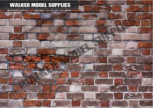 1:6 scale (3xA4) Brick wall - Peel and Apply sticker/ diorama model 5