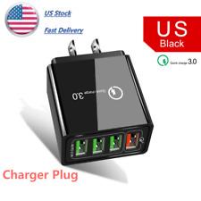 US 4 Port Fast Quick Charging QC 3.0 USB Hub Wall Charger Power Adapter Plug