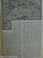Calvados Normandy  France Old Victorian Antique Illustrated Article 1884