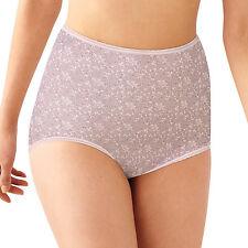 BALI Skimp Skamp Nylon/Spandex Pink Chic Print Full-Cut Brief Plus Size 10/3XL