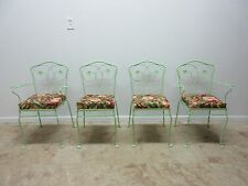 4 Vintage Mid Century Woodard Ivy Outdoor Patio Porch Dining Side Chairs Set