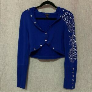 Dereon by Beyonce Bejeweled Cropped Jacket Y2k Womens