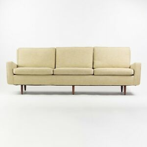 Museum Quality 1950's Florence Knoll Associates Original Fabric Three Seat Sofa