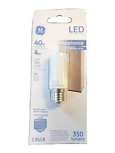 LED Light Bulb, T8, Warm White, Frosted, 350 Lumens, 4-Watts