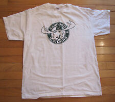 Sanford Mainers Necbl Broose D' Moose White Green Gildan T Shirt Size Large