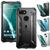 For Google Pixel 3 XL Case,Poetic Rugged Shockproof Cover With Kick-stand