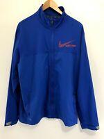 Mens Nike Dri Fit Lacrosse Royal Blue Red Full Zip Warm Up Jacket Windbreaker